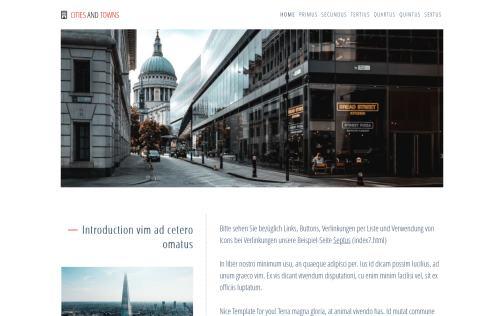 Pretty Homepage Design Vorlagen Photos Blau Business Website